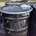 White foam in a barrel